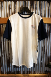 BRIXTON NOVATO S/S KNIT (OFF WHITE/NAVY)