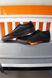 VANS OLD SKOOL (FLAME WALL) BLACK/BLACK