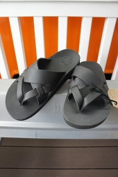 The Sandalman MESH LEATHER SANDAL (BLACK)