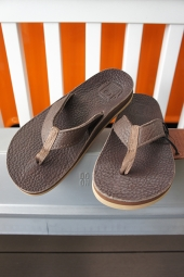 The Sandalman BEACH WALK LEATHER SANDAL (BROWN)