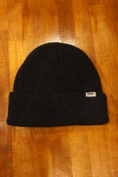 BANKS JOURNAL STAPLE BEANIE (HEATHER BLACK)