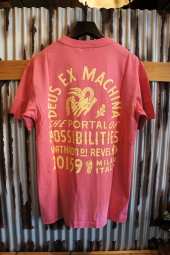 DEUS EX MACHINA SUNBLEACHED POSSIBILITIES TEE (ROSE-YELLOW)