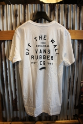 VANS STACKED RUBBER SS T-SHIRT (WHITE)