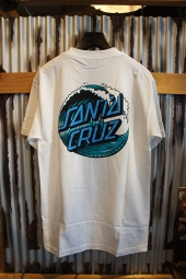 SANTA CRUZ WAVE DOT T-SHIRTS (WHITE)