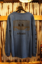 AFENDS GOOD TIMES LONGSLEEVE TEE (ROYAL BLUE)
