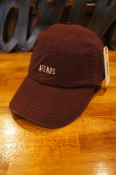 AFENDS HIGH RISE CURVED BRIM CAP (OXBLOOD)