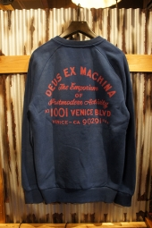 DEUS EX MACHINA Sunbleach Postmodern Crew (ESTATE BLUE)