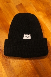 RIPNDIP Lord Nermal Ribbed Beanie (Black)