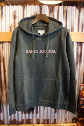 BANKS JOURNAL LABEL PULLOVER FLEECE (FOREST)