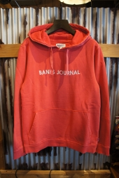 BANKS JOURNAL LABEL PULLOVER FLEECE (VINTAGE RED)
