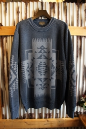 PENDLETON CREW NECK SWEATER (Indigo)