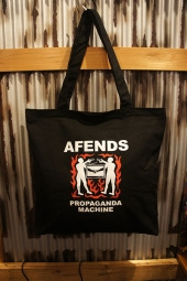 AFENDS PROPAGANDA MACHINE PREMIUM TOTE BAG (BLACK)