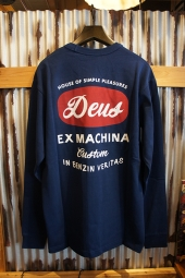 DEUS EX MACHINA Stacks LS TEE (ESTATE BLUE)