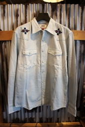 DEUS EX MACHINA Crosshair Western Shirt (BLEACH DENIM)