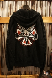 INDEPENDENT x THRASHER PENTAGRAM CROSS PULLOVER HOODIE (BLACK)