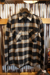BRIXTON BOWERY L/S FLANNEL (BLACK/CREAM)