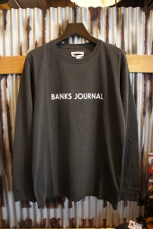 BANKS JOURNAL LABEL L/S TEE SHIRT (DIRTY BLACK)