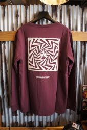 AFENDS VOID LONGSLEEVE TEE (OXBLOOD)