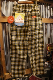 Cookman Chef Pants (「Corduroy Tartan」 YELLOW)