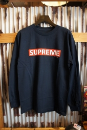 POWELL PERALTA SUPREME L/S T-SHIRT (NAVY)