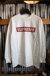 POWELL PERALTA SUPREME L/S T-SHIRT (WHITE)