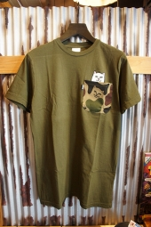 RIPNDIP Lord Nermal Camo Pocket Tee (Army camo)