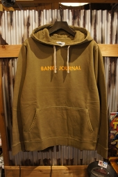 BANKS JOURNAL LABEL PULLOVER FLEECE (OLIVE GREEN)