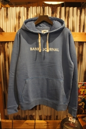 BANKS JOURNAL LABEL PULLOVER FLEECE (COBALT)