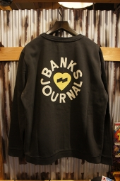 BANKS JOURNAL HEART RINGS FLEECE (DIRTY BLACK)