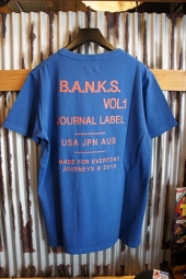 BANKS JOURNAL TUNE TEE SHIRT (COBALT)