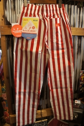 Cookman Chef Pants (「Wide stripe」 Red)