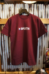 BRIXTON STOWELL IV S/S STANDARD TEE (BURGUNDY)