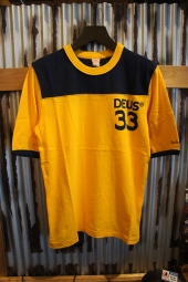 DEUS EX MACHINA Harold Sports Tee (GOLDEN-NAVY)