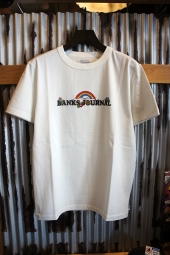 BANKS JOURNAL RAINBOW JOURNAL TEE SHIRT (OFF WHITE)