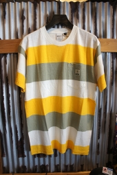 DEUS EX MACHINA Alvaro Stripe Tee (GOLDEN COMBO)
