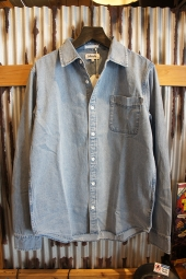 AFENDS Stoned. DENIM SHIRT (BLUE ACID WASH)