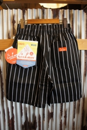 Cookman Chef Short Pants (「Stripe」 BLACK)