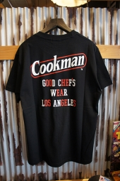 Cookman T-shirts 「Tape logo」 (BLACK)