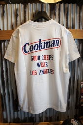 Cookman T-shirts 「Tape logo」 (WHITE)
