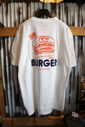 Cookman T-shirts 「BURGER」 (WHITE)