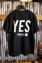 Cookman T-shirts 「YES」 (BLACK)