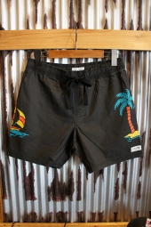 BANKS JOURNAL BAHAMAS BOARDSHORT (DIRTY BLACK)