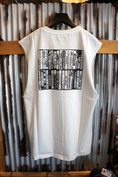AFENDS Cassette BAND CUT TEE (WHITE)