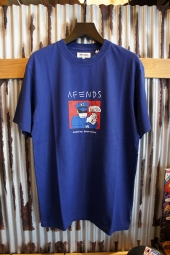 AFENDS Reality RETRO FIT TEE (ROYAL BLUE)