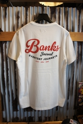 BANKS JOURNAL BROADCAST TEE SHIRT (OFF WHITE)