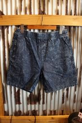 BRIXTON STEADY ELASTIC WAISTBAND SHORT (NAVY-ACID-WASH)