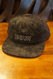 BRIXTON SIMMONS MP SNAPBACK (BLACK-ACID-WASH)