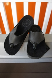 【LADY'S ITEM】 The Sandalman BEACH WAID LEATHER SANDAL (BLACK)