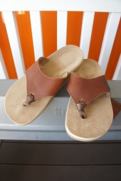 The Sandalman BEACH WAID LEATHER SANDAL (TAN)