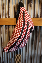 VANS WARD CROSS BODY PACK (RED-WHITE CHECK)